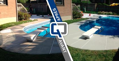 Resurfaçage de contour de piscine